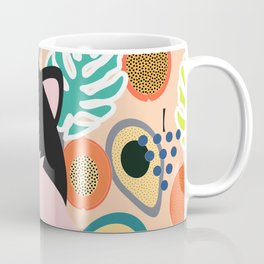Fox, leaves and tropical fruits Coffee Mug