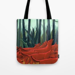 Red Dogs Tote Bag