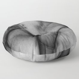 Florence, Italy Marble Sculpture The Kidnapping of the Sabine Women by Giambologna black and white photograph Floor Pillow