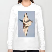 aviation Long Sleeve T-shirts featuring Aviation F-22 Raptor Air Show USAF by Aviator