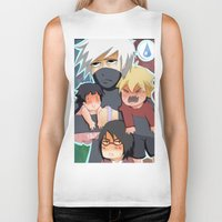 kakashi Biker Tanks featuring The babysitter by Momo Aiko