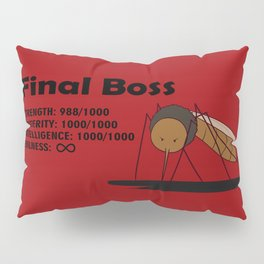Final Boss - Red background Pillow Sham