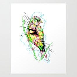 Abstract Bird 01 Art Print