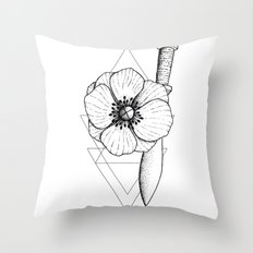 Dot work Throw Pillow