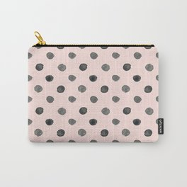 Hand drawn grey dots on pink- Mix&Match with Simplicty of life Carry-All Pouch