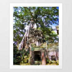 Angkor Temple Doorway Art Print