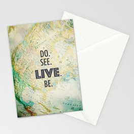 Do See Live Be - World Background Stationery Cards