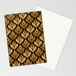 Dark Retro Trefoil Pattern Stationery Cards