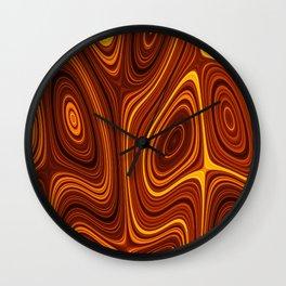 Amber Lava 3 Hi Res Wall Clock