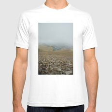 Snowy day on Pikes Peak Mens Fitted Tee MEDIUM White