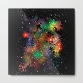 The Zodiac Sign -- Aries Metal Print