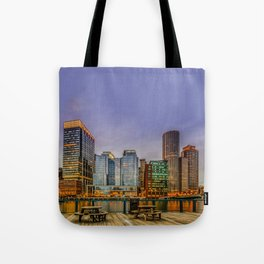 Boston Financial District Tote Bag