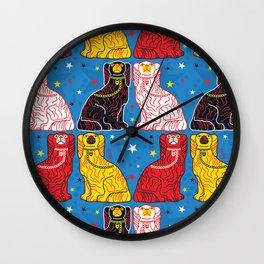 staffordshire dogs Wall Clock