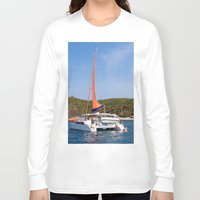 sailboat Long Sleeve T-shirts featuring sailboat by nguyenkhacthanh
