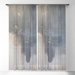 Unto Ashes Sheer Curtain