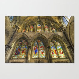 Rochester Cathedral Stained Glass Windows Art Canvas Print