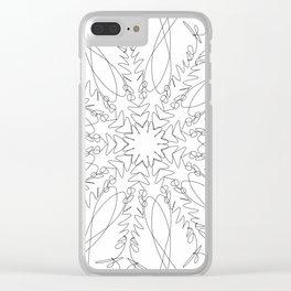 mandala art - moonrise kingdom Clear iPhone Case