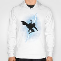 returns Hoodies featuring The Thunder God Returns by Six Eyed Monster