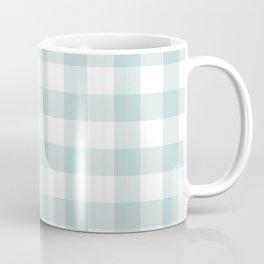 Charcoal Sky Checker Gingham Plaid Coffee Mug
