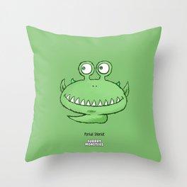 Tickleslug Throw Pillow