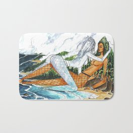PNW Fishnets - Earth and Sky Goddess Kiss Painting Bath Mat
