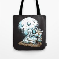 dragonball z Tote Bags featuring Z! by Locust Years