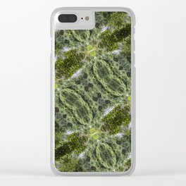 Abstract Rainforest Clear iPhone Case