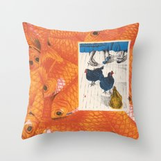 Fish 'n Chicks Throw Pillow