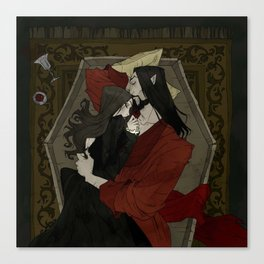 Vampire Lovers Canvas Print
