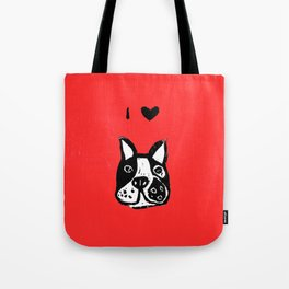 I heart Dogs Tote Bag