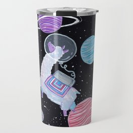 The astronaut llama Travel Mug