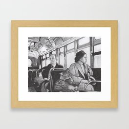 Bad Cat Calls Himself 'A Modern Day Rosa Parks' When I Tell Him to Get Off The Kitchen Counter Framed Art Print