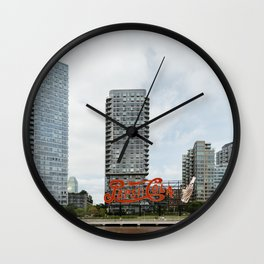 Cola sign in New York City Wall Clock