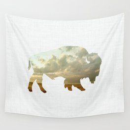 Bison and Plains Wall Tapestry