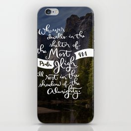 Psalm 91 with Background iPhone Skin