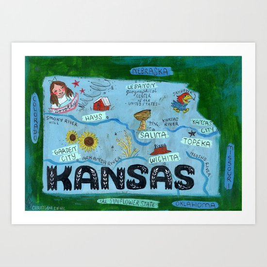 KANSAS Art Print