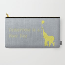 Elephant with Balloon: Tomorrow is a New Day Carry-All Pouch