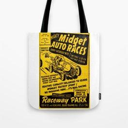 Midget Auto Races, Race poster, vintage poster Tote Bag