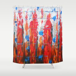 Arctic Fire Shower Curtain