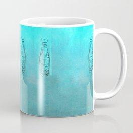 Teal Bottles Coffee Mug