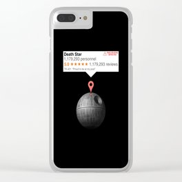 If this moon was just any place Clear iPhone Case