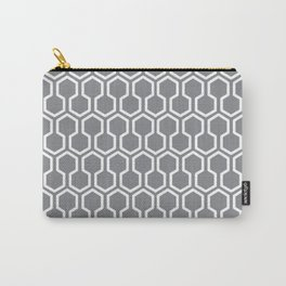 Honey Comb Pattern Grey Carry-All Pouch