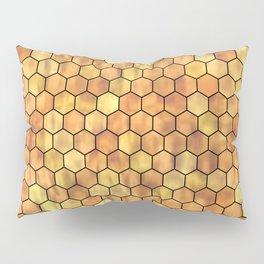 Golden Honeycomb Pattern Pillow Sham