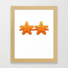 Starfish Fake Bra Funny Costume Brassiere Pun Ironic Framed Art Print