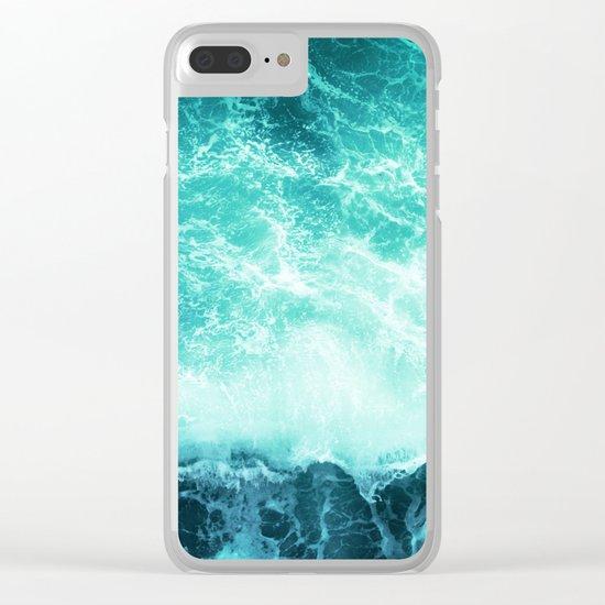 Deep Green Sea Clear iPhone Case