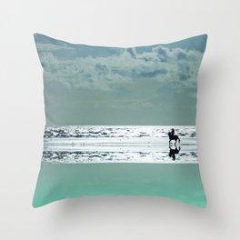 Riding Silver Sands Throw Pillow