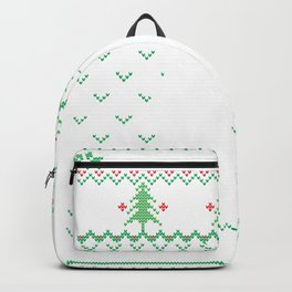Military Ugly Christmas Sweater Backpack