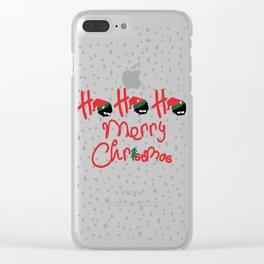 ho ho ho little santa Clear iPhone Case