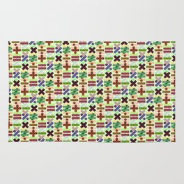 Seamless Colorful Abstract Mathematical Symbols Pattern VII Rug