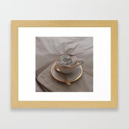 Cappuccino for anyone? Framed Art Print